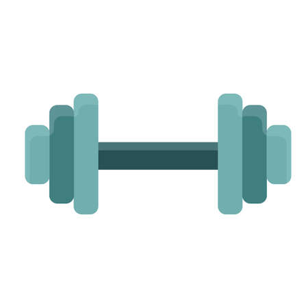 Dumbbell athletic active gym vector icon shape. Muscular biceps sporty fitness workout. Exercise metal equipment