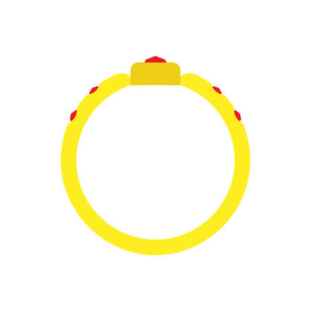 Ring circle vector gold illustration icon sign engagement design symbol wedding. Round jewellery gem carat