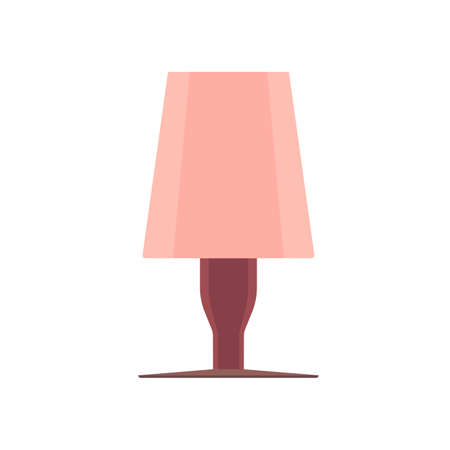 Lamp bedside light vector art isolated. Interior equipment icon front view furniture elegance illumination Illustration