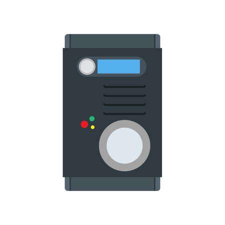 Intercom system design button bell device vector icon. Surveillance wireless display panel. Remote control door