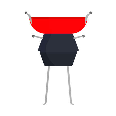 BBQ grill food party vector icon sign. Barbecue meat steak summer picnic. Vintage black kitchen cooking outdoor