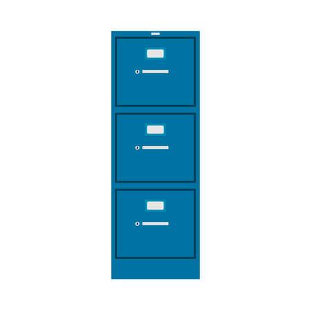 Classeur vecteur icône meubles gestion intérieure finance catalogue bibliothèque classeur. Bureau de cas en métal de base de données. Archive des données