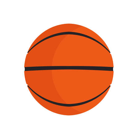 Basketball ball sport vector icon play game. Isolated circle orange equipment. Recreation element item club 일러스트