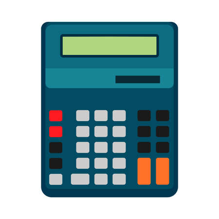 Calculator business vector illustration icon design isolated. Button display sign finance. Office tax flat equipment Ilustração