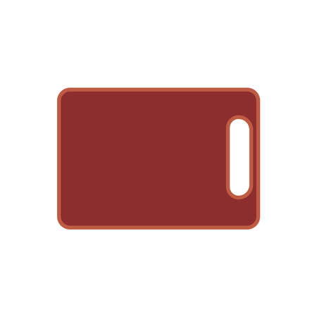 Chopping board vector wood cutting icon plank. Surface cooking material isolated. Utensil equipment preparation