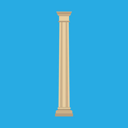 Column history classical symbol monument architectural element vector icon. Flat pillar exterior marble sculpture bar Reklamní fotografie - 121849390