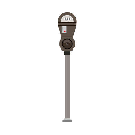 Parking meter vector icon symbol. Car ticket street traffic. Slot machine coin entrance drive. Urban public hold security