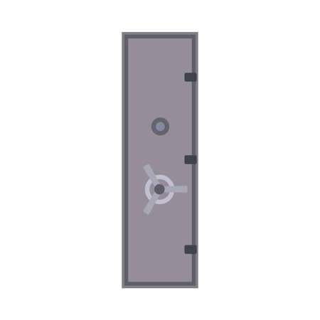 Bank safe vector icon deposit door. Business finance protection metal lock isolated. Money box cash flat storage