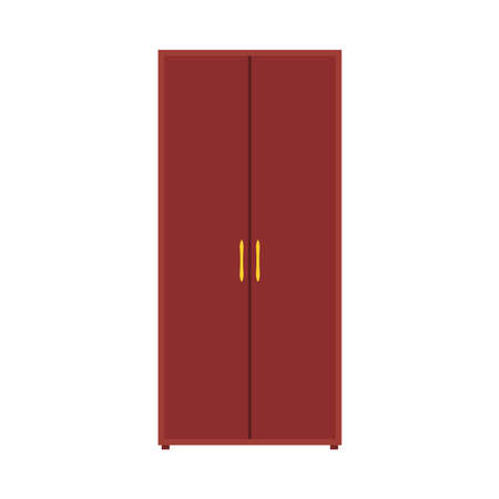 Wardrobe closet vector icon furniture shelf. Clothe cabinet interior cartoon storage. Cupboard fashion wooden drawer