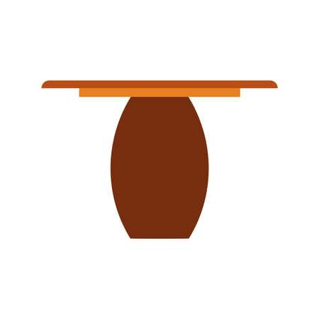 Coffee table beverage concept brown wooden closeup icon background. Vector dark desk interior cafe