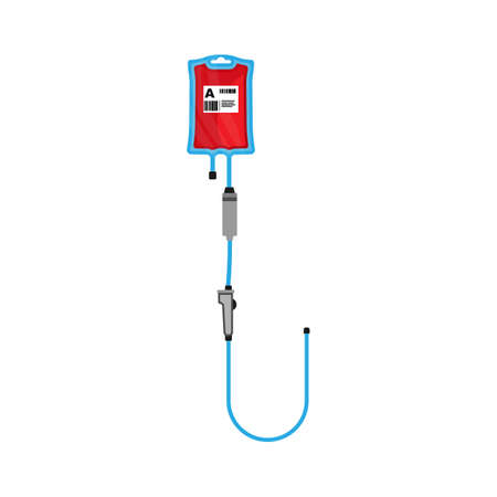 Blood bag vector flat icon donate hospital medical. Donor aid clinic drop red symbol. Plastic container iv emergency help