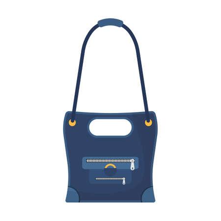 Frau Mode Tasche Vektor-Illustration Zubehör. Weibliche Handtasche Stil-Eleganz-Ikone. Lady Luxus Glamour trendiger Gepäckkoffer