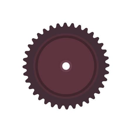 Spur gear vector icon engineering wheel equipment pinion. Cogwheel technology illustration circle engine mechanical mechanism transmission tooth. Factory metal shape industry rotation steel circular