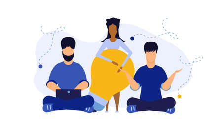 People health wellness vector relax business background. Mind wellbeing body icon consciousness care concept illustration. Workout healthy fitness lifestyle exercise yoga banner. Meditation balance
