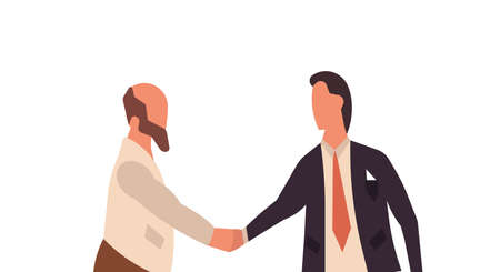 Businessmen handshake agreement deal concept. Business person partnership contract success. Cooperation communication professional job human. Friendship trust work office partner together isolated