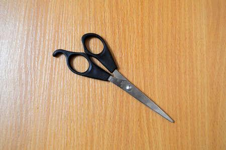Scissor metal sharp tool isolated equipment. Steel handle hair cutting object barber blade