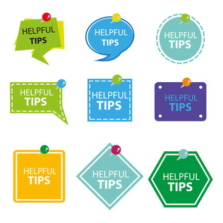 A collection of helpful tips with flat design. Tricky advice message vector illustration concept