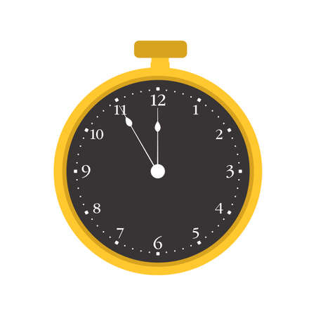 Pocket watch time clock vector old vector illustration antique icon. Retro gold pocket watch classic object vintage isolated white timer. Round hand instrument drawing cartoon retro icon design clock