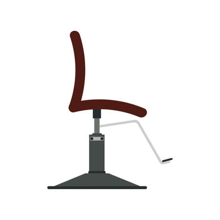 Barber chair vector illustration icon design equipment salon. Hairdresser barber chair vintage seat haircut element symbol isolated white. Fashion leather furniture classic professional accessory