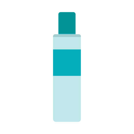 Cosmetic bottle beauty vector illustration icon care design. Product cosmetic bottle skin flat spa symbol hygiene health isolated white icon. Female container tube object package skincare beauty