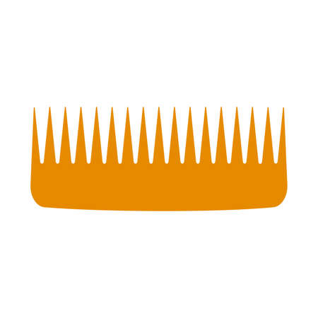 Vector hair comb beauty icon hairdresser isolated white illustration. Salon barber hair comb fashion brush tool design equipment female. Hairbrush salon barber grooming accessory shape with pin logo