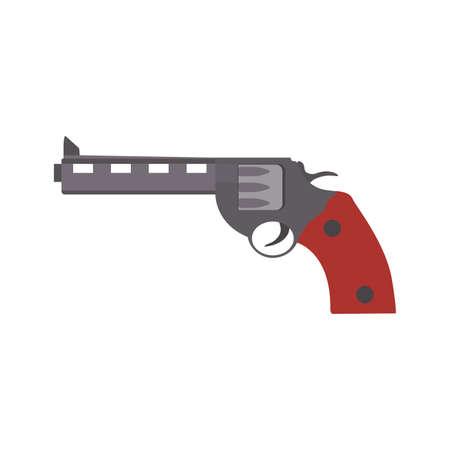 Pistol gun weapon vector illustration black crime handgun. War pistol trigger icon bullet. Isolated danger military army firearm ammunition silhouette symbol. Police arm hand element caliber drawing