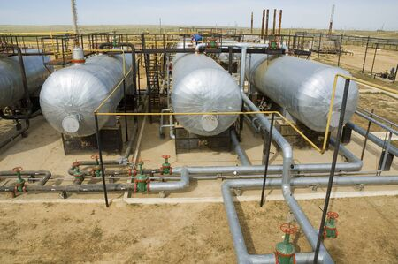 fueling: Oil tanks on pumping station
