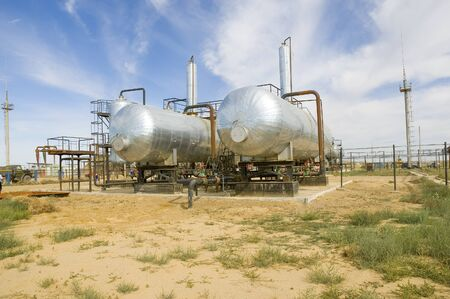 fueling pump: Oil tanks on pumping station
