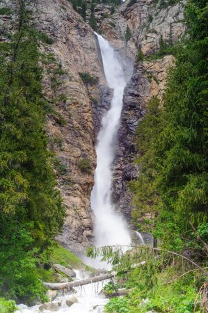 waterfall: Burkhan Bulak waterfall, Dzhungar Alatau, Kazakhstan