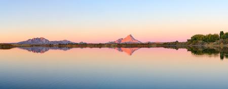 non urban: Bektau Ata mountains at sunset, Central Kazakhstan