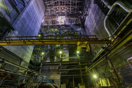 Inside View On Industrial Boiler In Thermal Power Plant. Stock Photo ...