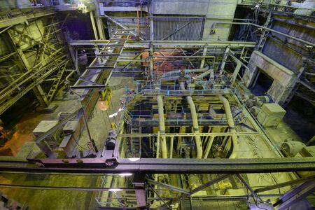 Industrial Boiler In Thermal Power Plant. Stock Photo, Picture And ...