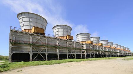 Cooling towers of a electric power plant