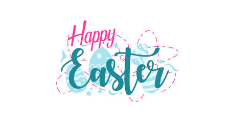 Happy Easter Greeting Design with Egg Background