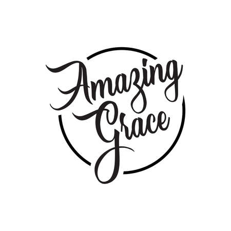amazing grace lettering. Quotes. vector vintage illustration. isolated on white background Illustration
