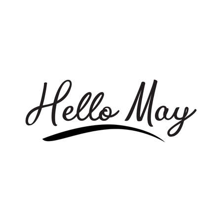 Hello may. greeting vector lettering
