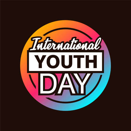 International youth day. with colorful symbol vector illustration