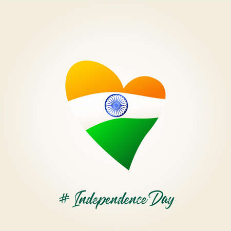 India love flag. independence day poster for greeting. Vector illustration