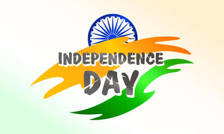 India independence day. Flag and symbol. For greeting card, poster and banner template. Vector illustration Ilustrace