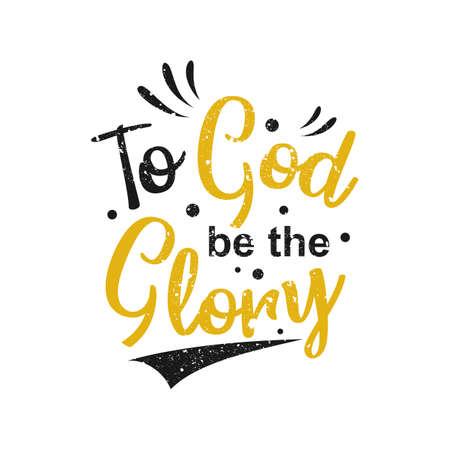 Paroles inspirantes et motivantes. À Dieu soit la gloire