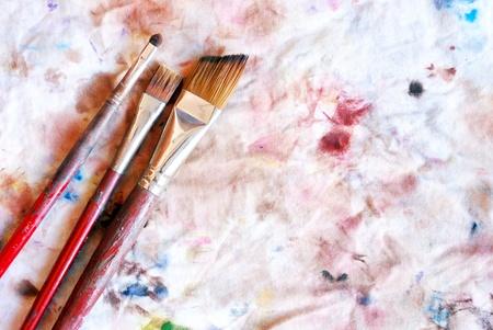 art pinceaux  Banque d'images