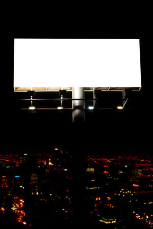 blank billboard and city lights Stock Photo