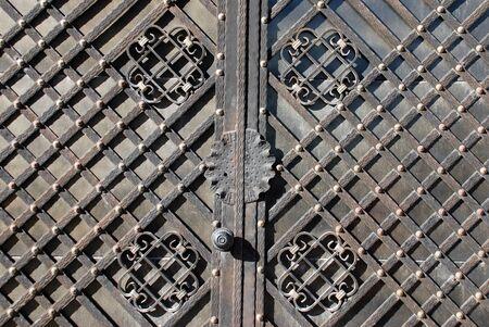 puerta de metal: Puerta de metal