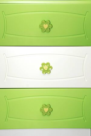 green dresser drawers