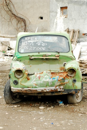 blase: Wrecked car  Stock Photo