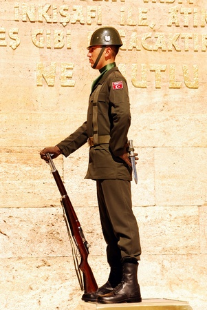 Guard near Ataturk mausoleum