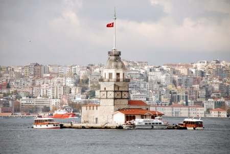 bosporus: maiden s tower in istanbul Stock Photo