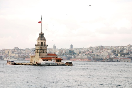 maiden s tower in istanbul Stock Photo