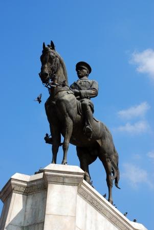 Ataturk on horseback