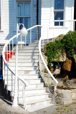 Modern house stairs  in  Istanbul, Turkey